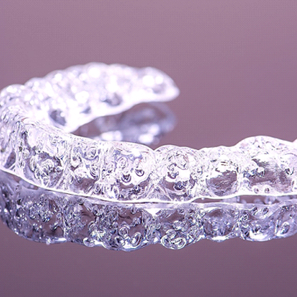 Clear aligner for Invisalign in West Brookfield.