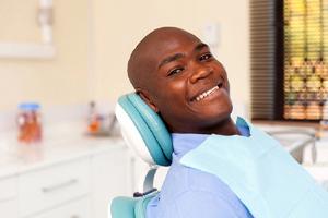 Man getting dental implants in West Brookfield