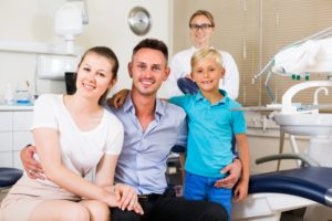 Family visiting West Brookfield family dentist