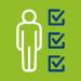 person by check list icon